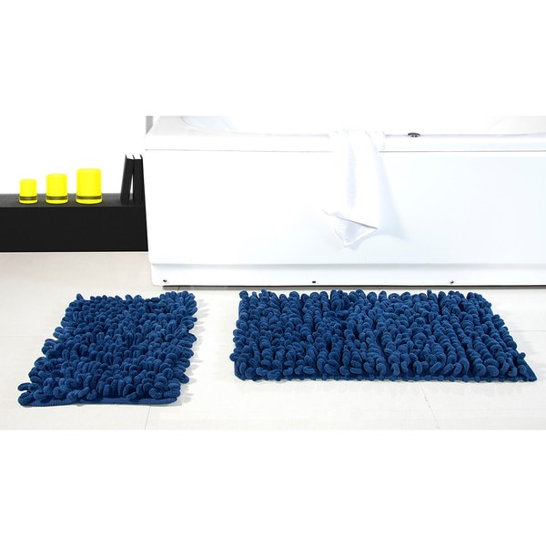 Micro Chenille Thick Loop Piece Bath Rugs X Free - Loop bath rug for bathroom decorating ideas