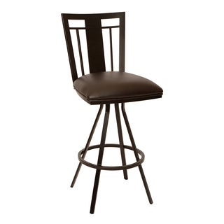 Cleo 30-inch Transitional Barstool In Grey Leatherette