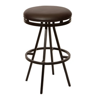 Fiji 30-inch TransitionalSwivel Barstool In Coffee Leatherette