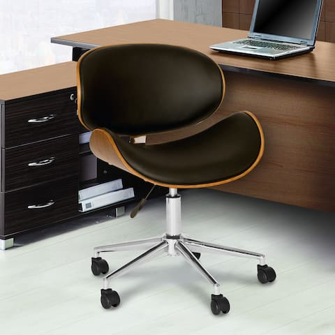 Daphne Modern Chair In Black Leatherette And Chrome