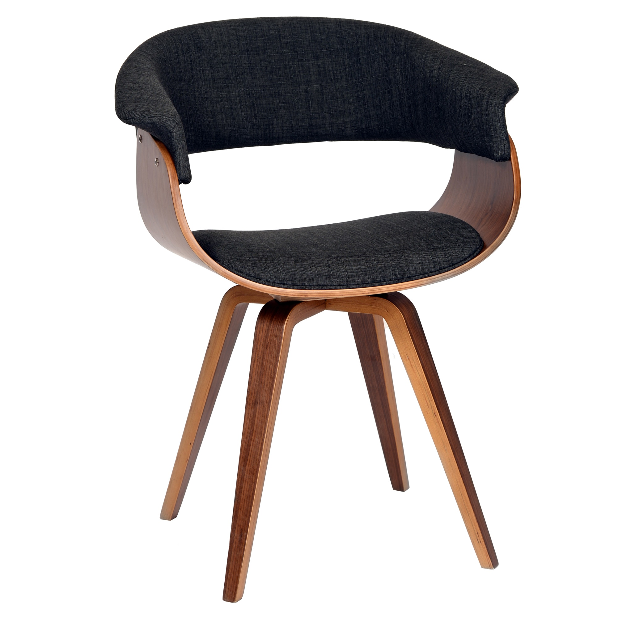 Palm Canyon Harwood Modern Dining Chair In Charcoal