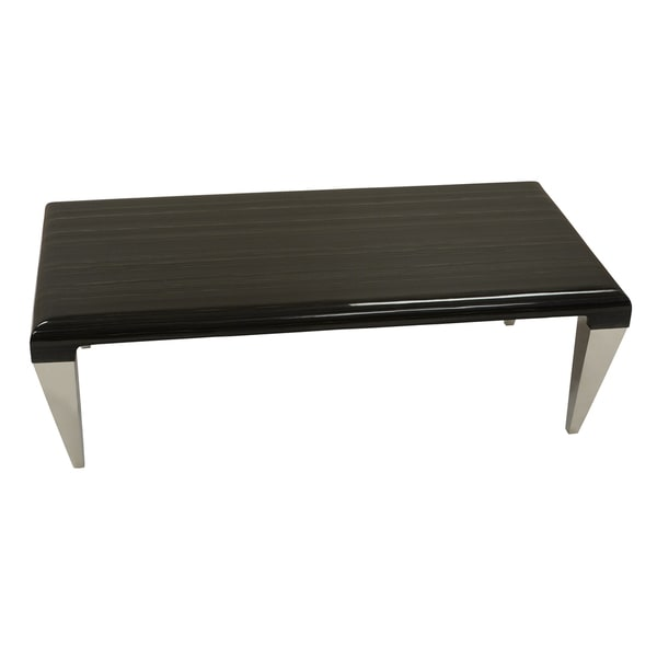Marble And Steel Coffee Table: Shop Armen Living Chow Contemporary Marble Coffee Table In