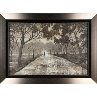 Walk in the Park 24x32 Framed Fresco - Brown
