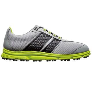 FootJoy Mens FJ Superlites Spikeless Light Grey-Black Golf Shoes