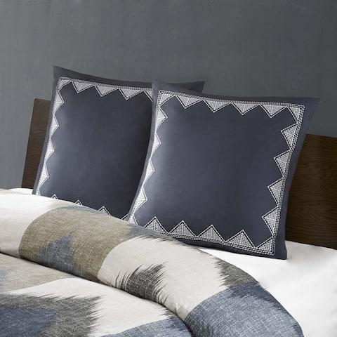 Carson Carrington Visaginas Embroidered Cotton 26x26 Euro Sham