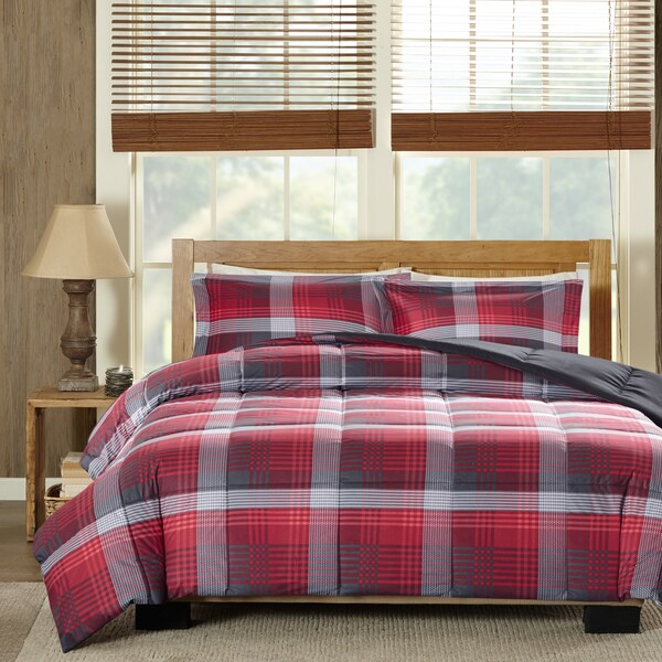 Woolrich Terpun Red Softspun Down Alternative Comforter Mini Set
