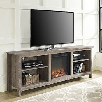 of fireplace inch stand tv best with