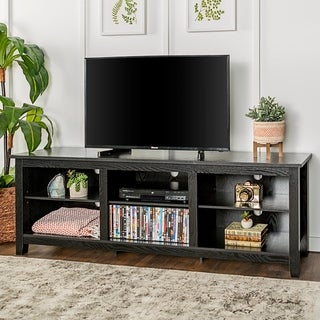 "Clay Alder Home Toston 70"" TV Stand Console - Black - 70 x 16 x 24h"