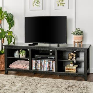 Black tv stands entertainment centers for less for Furniture of america gelenan industrial cement like multi storage buffet