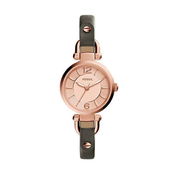 Fossil Women's ES3862 'Georgia' Brown Leather Watch - Gold