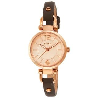 Fossil Women's ES3862 'Georgia' Brown Leather Watch|https://ak1.ostkcdn.com/images/products/10561057/P17639216.jpg?impolicy=medium