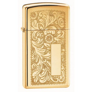 Zippo Venetian Slim High Polish Brass Lighter
