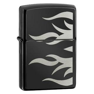 Zippo Ebony Flames Windproof Lighter