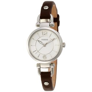 Fossil Women's ES3861 'Georgia' Brown Leather Watch