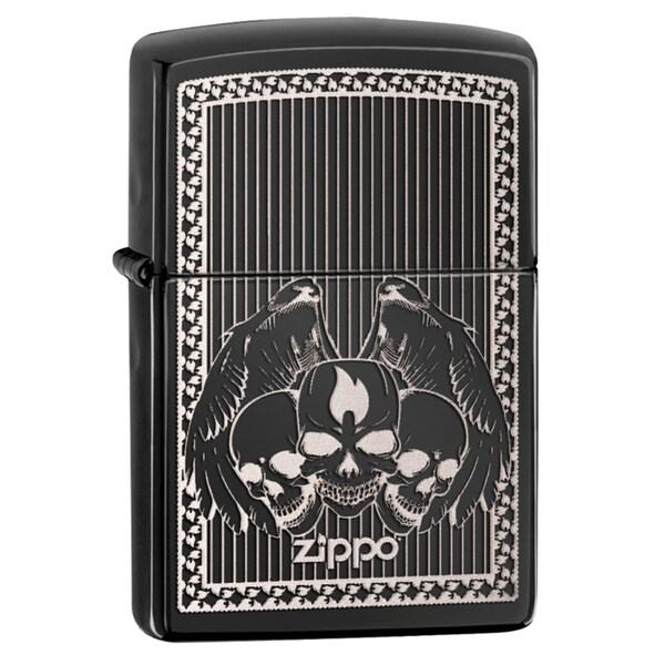 Zippo Zippo Skulls Ebony Windproof Lighter