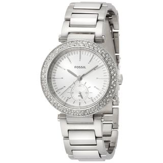Fossil Women's ES3849 'Urban Traveler' Multi-Function Crystal Stainless Steel Watch