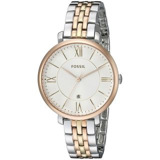 Fossil Women's 'Jacqueline' Two-Tone Stainless Steel Watch