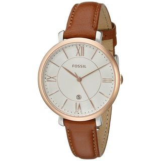 Fossil Women's ES3842 'Jacqueline' Brown Leather Watch