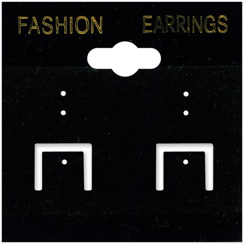 Earring Cards 2inX2in 100/PkgBlack PVC & Velvet