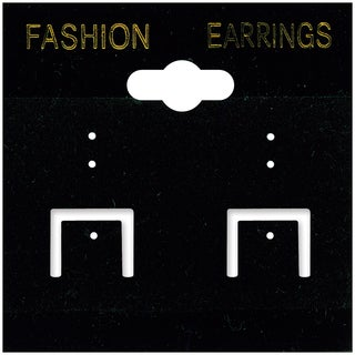 Earring Cards 2inX2in 100/PkgBlack PVC & Velvet