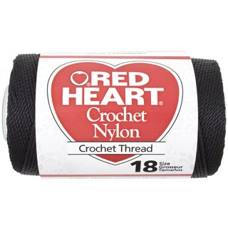 Nylon Crochet Thread Size 18Black