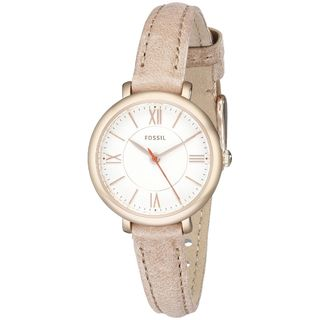 Fossil Women's 'Jacqueline' Beige Leather Watch