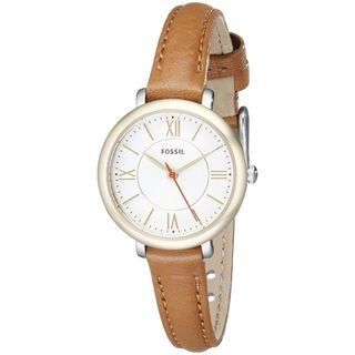Fossil Women's ES3801 'Jacqueline' Brown Leather Watch