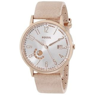 Fossil Women's ES3751 'Vintage' Beige Leather Watch