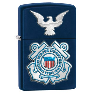Zippo USCG Navy Matte Windproof Lighter