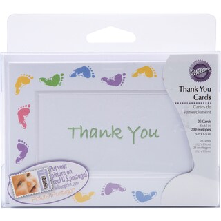Thank You Card Kit Makes 20Baby Feet