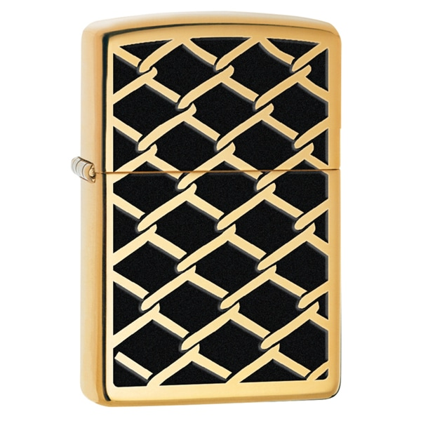 Zippo Fence Design High Polish Brass Windproof Lighter