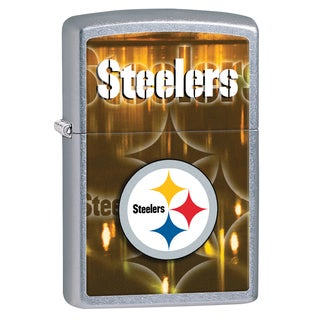 Zippo NFL Pittsburgh Steelers Brushed Chrome Lighter
