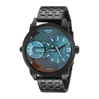 Diesel Men's DZ7340 'Mini Daddy' Dual Time Black Stainless Steel Watch