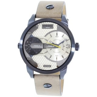 Diesel Men's DZ7338 'Mini Daddy' Dual Time Brown Leather Watch
