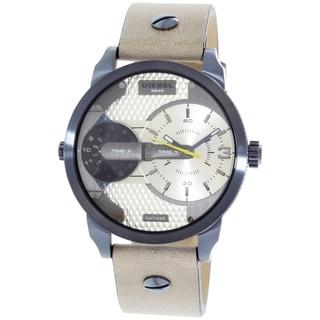 Diesel Men's DZ7338 'Mini Daddy' Dual Time Brown Leather Watch