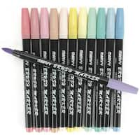 Brush Markers 12/Pkg Pastel