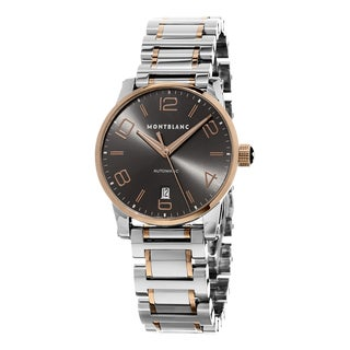 Mont Blanc Men's 106501 'Time walker' Grey Dial Two Tone Stainless Steel/Gold Swiss Automatic Watch