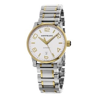 Mont Blanc Men's 106502 'Time walker' Silver Dial Two Tone Stainless Steel/Gold Swiss Automatic Watch