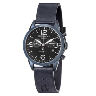 Zeno Men's 4773Q-BL-A1 'Vintage Line' Black Dial Blue Leather Strap Chronograph Swiss Quartz Watch|https://ak1.ostkcdn.com/images/products/10561263/P17639328.jpg?impolicy=medium