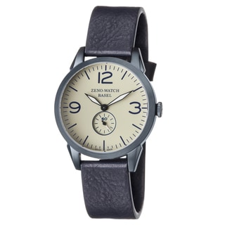Zeno Men's 4772Q-BL-A9-1 'Vintage Line' Champagne Dial Blue Leather Strap Swiss Quartz Watch