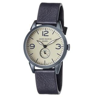 Zeno Men's 4772Q-BL-A9-1 'Vintage Line' Champagne Dial Blue Leather Strap Swiss Quartz Watch