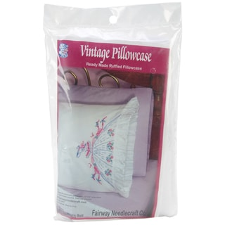Stamped Ruffled Edge Pillowcases 30inX20in 2/PkgSouthern Belle