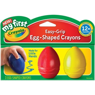 My First Crayola Easy Grip Egg Shaped Crayons 3pcBlue, Red And Yellow