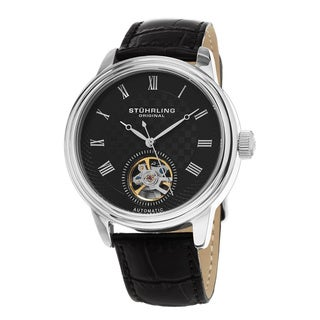 Stuhrling Original Men's Automatic Leather Strap Watch