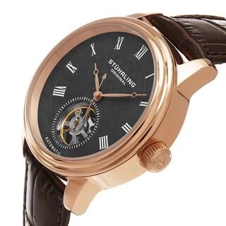 Stuhrling Original Men's Automatic Leather Strap Watch