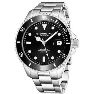 Stuhrling Original Men's Automatic Stainless Steel Divers Bracelet Watch|https://ak1.ostkcdn.com/images/products/10561289/P17639341.jpg?impolicy=medium