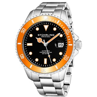 Stuhrling Original Men's Automatic Stainless Steel Divers Bracelet Watch (4 options available)