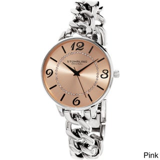 Stuhrling Original Women's Quartz Stainless Steel Austrian Crystal Watch