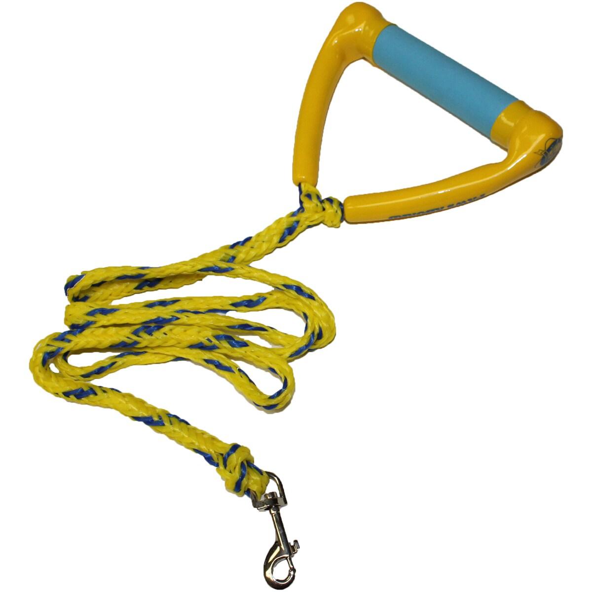 Novelty Ski Rope Leash 4.5' (4.5ft), Yellow, Size M