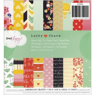 American Crafts Paper Pad 6inX6in 36/PkgDear Lizzy  Lucky Charm